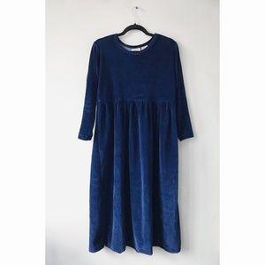 90s Velvet Midi Dress